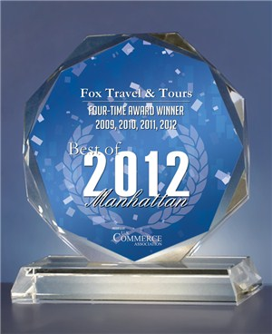 Fox Travel wins USCA Best of Manhattan Award for the fourth time.